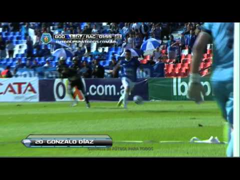 Gol de Díaz. Godoy Cruz 1 – Racing 0. Fecha 19. Torneo Final 2014