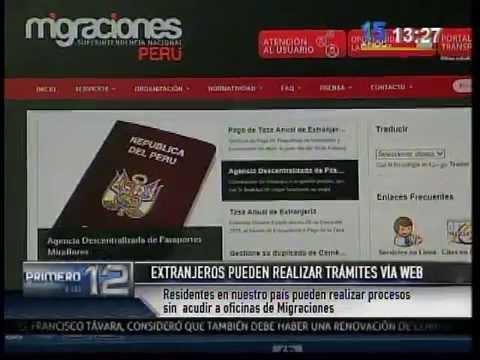 Informe: Extranjeros pueden realizar trámites vía web (Canal N)