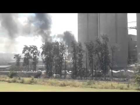 Incêndio atinge fábrica de cimento em Vespasiano