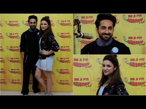 Ayushmann Khurrana & Parineeti Chopra Promoting Film Meri Pyaari Bindu