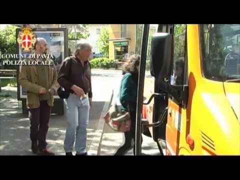 campagna contro le truffe agli anziani - sull'autobus