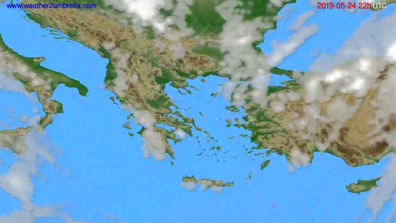 Cloud forecast Greece // modelrun: 12h UTC 2019-05-22
