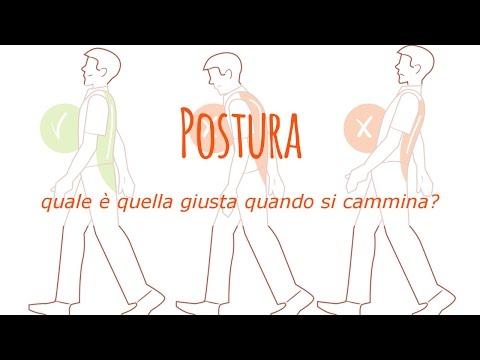 qual è la giusta postura quando si cammina?