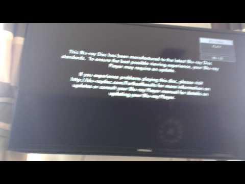 Panasonic bluray problem