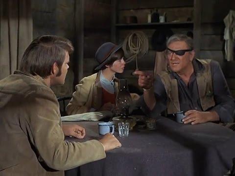 True Grit (1969) - La Boeuf (Glen Campbell), Rooster Cogburn (John Wayne) and Mattie (Kim Darby)