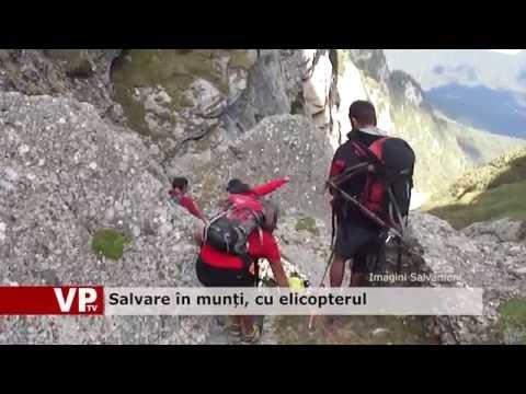 Salvare în munți, cu elicopterul