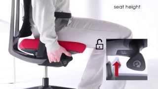 Nastavení ergonomické židle Xenon