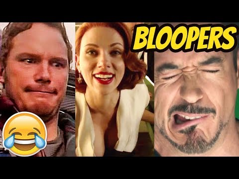 All Marvel Movies Bloopers & Gag Reel Compilation - 2002 to 2017