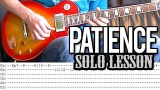 Guns N'Roses - Patience Solo Guitar Lesson EASY (With Tab)