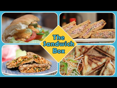 The Sandwich Box   Quick And Easy To Make Breakfast / Lunch Box / Tiffin / Snack Recipes