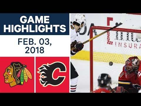Video: NHL Game Highlights | Blackhawks vs. Flames - Feb. 03, 2018