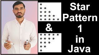 Star Pattern - 1 Program (Logic) in Java by Deepak