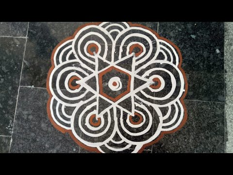 Video 10 | Wet Rice Flour Rangoli | Simple Arisi Maavu Kolam download in MP3, 3GP, MP4, WEBM, AVI, FLV January 2017