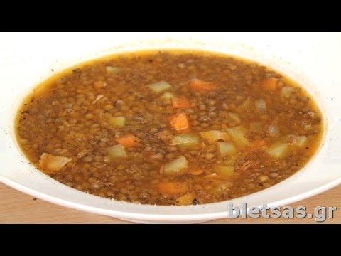 Σούπα φακές με μπέικον από τον Ευτύχη Μπλέτσα