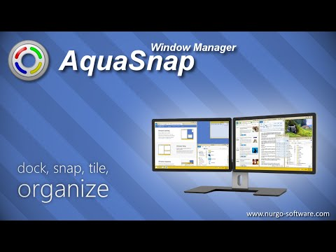 AquaSnap Window Manager: dock, snap, tile, organize