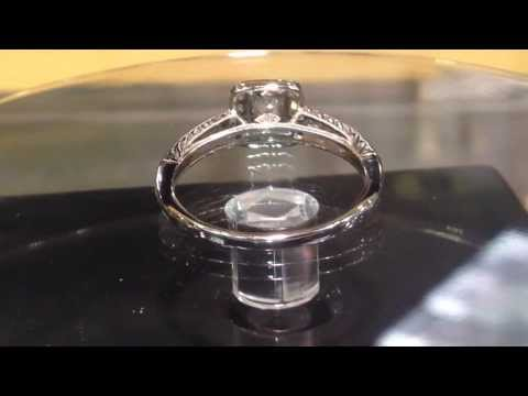 1/2 carat princess cut halo ring - Kaycee Diamonds