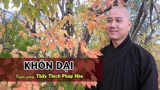 Khôn Dại - Thầy. Thích Pháp Hòa tại Edmonton (Jan.15,2012)