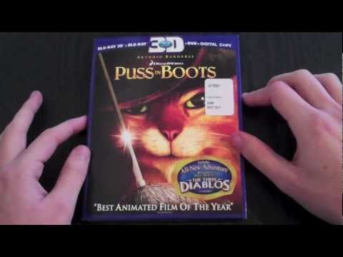 Puss In Boots BluRay 3D Unboxing