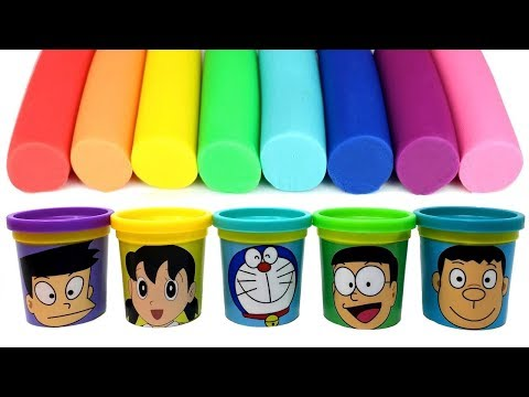 Doraemon(ドラえもん) Play Doh Molds & Can Heads Nobita Suneo Shizuka Takeshi Doraemon - Surprise Toys