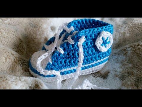 Sneakers para bebés - Tejer zapatillas de deporte – Parte 1/5 con subtítulos de BerlinCrochet