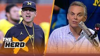 Colin's college football spoilers: Michigan vs Notre Dame, Washington vs Auburn | CFB | THE HERD