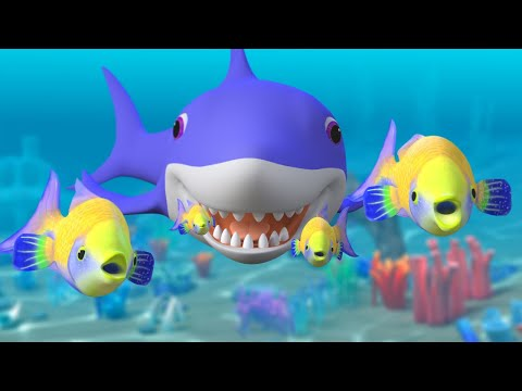 Baby Shark Song Challenge + More Nursery Rhymes & Kids Songs | Sharks Cartoon