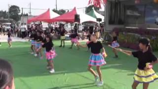 羽黒の夏祭り(15)バトン・羽黒児童セン