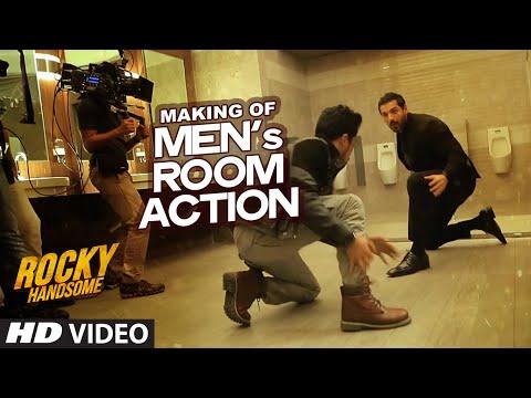 MAKING OF MEN's ROOM ACTION | Rocky Handsome | John Abraham, Nishikant Kamat | T-Series