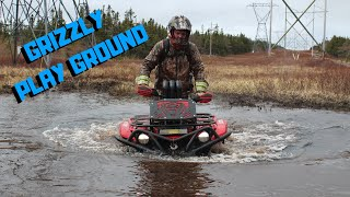 4. Brand New 2018 Yamaha Grizzly 700  takes on the MUD