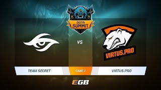 Team Secret vs Virtus.Pro, Game 2, DOTA Summit 7 LAN-Final, Day 5