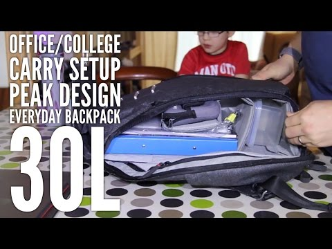 30L Everyday Backpack, Office or College Carry example by Peak Design (Review )
