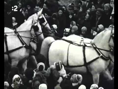 Vítanie Deda Mráza v Bratislave v roku 1960