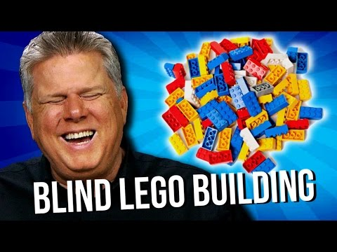 Blind Man Builds a House and a Car Out of LEGO