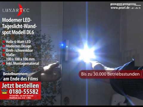 Lunartec Moderner LED-Tageslicht-Wandspot Modell DL6