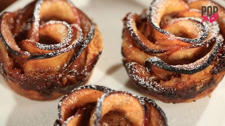 Valentine's Day Desserts | How To Make Apple Caramel Roses - POPxo Food