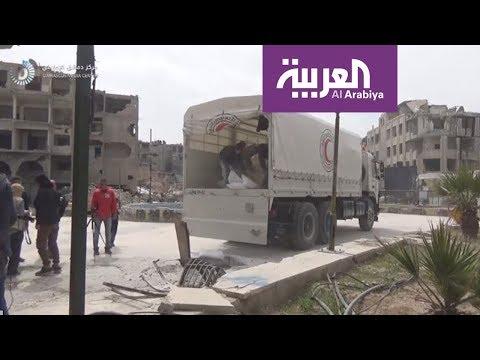 العرب اليوم - شاهد: الغارات تصطاد نازحي الغوطة