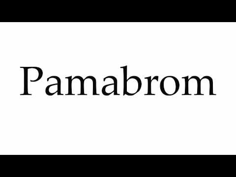 How to Pronounce Pamabrom