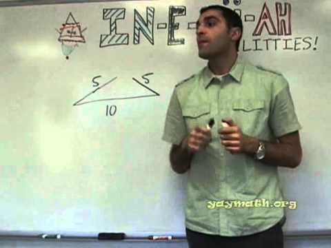 Dreieck Ungleichheit für die Seiten