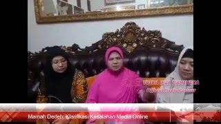 Download Video Klarifikasi Mamah Dedeh Terkait Kesalahan Media Online MP3 3GP MP4