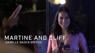 Video Martine and Cliff: Isabelle Daza's Speech MP3, 3GP, MP4, WEBM, AVI, FLV Oktober 2018