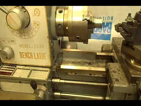 1340 - A Chinese 13 x 40 lathe is shown, with segment on accessories, alignment, and performance. The lathe is equipped with: steady rest; follow rest; quick change...
