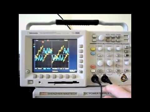 An element14 Community video: How to use your Tektronix oscilloscope to show the output signal of a digital converter.