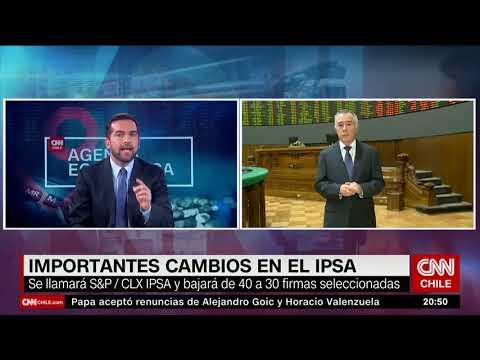 CEO de la Bolsa de Santiago, comenta sobre la alianza con S&P Dow Jones Indices.