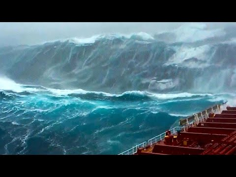 Man Films His Last Seconds Before The WAVE Hits!