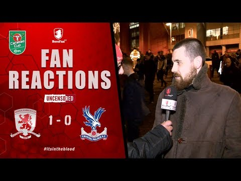 BORO BORO BORO BRING ON THE NEXT TEAM - Middlesbrough v Crystal Palace Fan Reaction