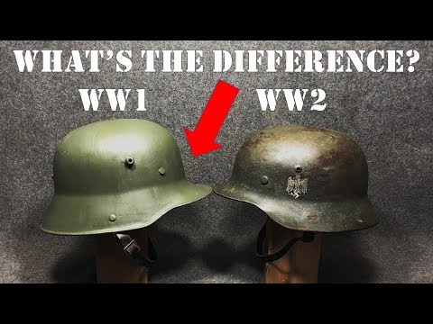 What is the Difference Between WW1 and WW2 German Army Helmets?