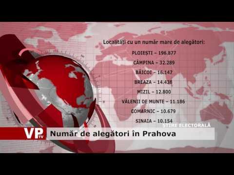 Număr de alegători în Prahova