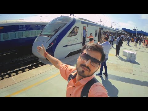 New Delhi Katra Vande Bharat Express 1st day journey 🚄