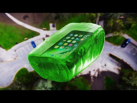 Can World's Largest Jolly Rancher Protect iPhone 7 from 100 FT Drop Test? - GizmoSlip