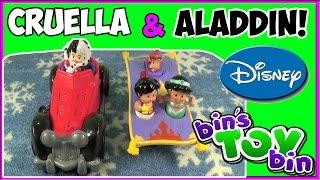 Aladdin, Jasmine&Cruella De Vil Fisher-Price Disney Little People! Review By Bin's Toy Bin